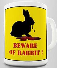 Beware Of The Killer Hase Becher/Tasse Keramiktasse