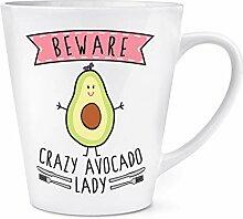 Beware Verrückte Avocado Damen 12oz Latte Becher