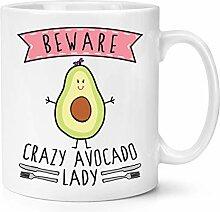 Beware Verrückte Avocado Damen 283g Becher Tasse