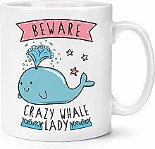 Beware Verrückte Wal Damen 283g Becher Tasse