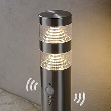 Bewegungsmelder-LED-Sockelleuchte Lanea, Edelstahl