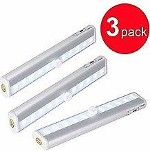 Bewegungsmelder Licht 6 LED Silber Sicherheit