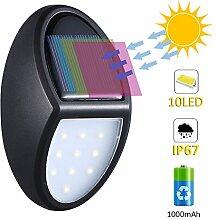 Bewegungsmelder mit 10 LED-Leuchten, Wasserdicht,