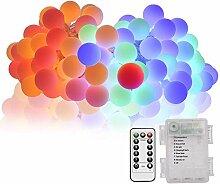 Beyanh Lichterkette Außen batterie 5m RGB mit