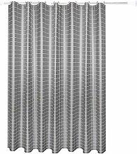 Beydodo 3D Duschvorhang Antischimmel Grau Streifen