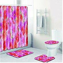 Beydodo Badematte Set Bad Vorhang für Badezimmer