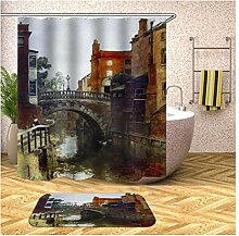 Beydodo Badematten Set 2 Teilig Duschvorhang