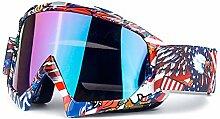 Beydodo Skibrille Unisex Motorradbrille Vintage