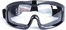 Beydodo Unisex Skibrille Glänz Schwarz Klar