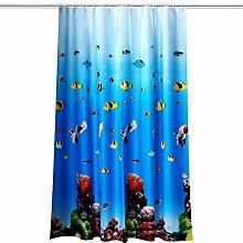 Beydodo Vintage Duschvorhang 240x200 Fisch im