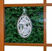 bezauberndes Fensterbild 15x25 cm + Saugnapf