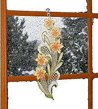bezauberndes Fensterbild 17x45 cm + Saugnapf