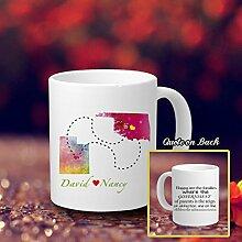 Beziehung Kaffee Becher für Mama Funny personalisierbar Kaffee Becher mit Sprüche Happy sind die Familien, wo die Regierung der Eltern Ist die Herrschaft der Zuneigung und Gehorsam der Childrenâ ¡â
