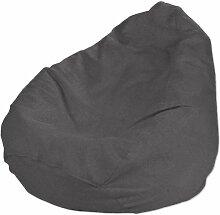 Bezug für Sitzsack, dunkelgrau, Bezug für Sitzsack Ø50x85 cm, Etna