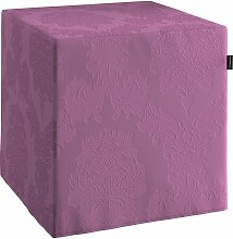 Bezug für Sitzwürfel, violett , Bezug für Sitzwürfel 40x40x40 cm, Damasco