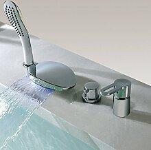 BFDMY 4-Loch-Wasserfall-Badewannenarmatur mit