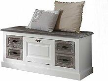 BFK Möbel Collection Cabana Sitzbank  Holz weiß 40x113x51 cm