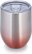 BFVV Edelstahl-Weinglas mit Deckel, 340 ml,