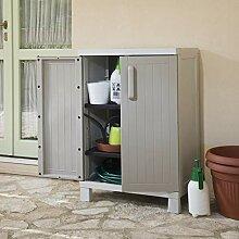 BFW Home Source Gartenschrank mit 2 Türen, 2