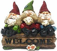 BG Garden Scapes Gartenzwerge Welcome-Zwerg-Stump.