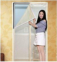 BGH Magnetische Schirmtür Sommer-Heavy Duty sieb und Full-Frame Velcro,Tüll-Fenster-Bildschirm Nicht Mehr Mücken und Insekten-E 90x220cm(35x87inch)
