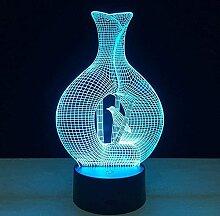 BGHDIDDDDD Nachtlicht Lampe Lampe Illusion 3D Led