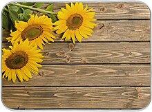 Bgift Abtropfmatte aus Holz, Sonnenblumen,