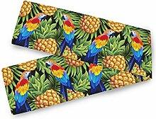 BGIFT Tropischer Aras Vogel Ananas Tischläufer 33