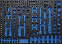 BGS 3/3 Werkstattwageneinlage Leer für