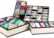 BH Unterwäsche Socken Krawatten Dessous Aufbewahrungsbox Organizer Schrank Schubladen 4 Stück