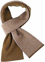 BHDYK Schals Herbst Und Winter Die Neuen High-End-Männer Wolle Schals Solide Warme Schals Einfarbig Schals Braun (Geschenk-Box)
