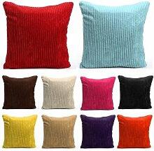 Bheema Striped Cord Kissenbezug Sofa -Kissenbezug Home Decoration - Light Tan