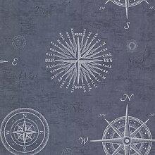 BHF 2604-21213 navigieren Tapete Vintage Kompass - Ozean
