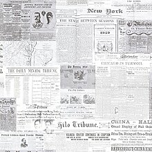 BHF 2604-21266 Gazette Zeitungsprint Tapete Vintage - Grau