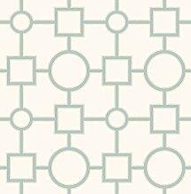 BHF 2625–21808Matrix Geometrische Tapete–Türkis