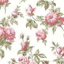 BHF 2668–21542Charlotte Vintage Rose Toss Tapete–Pink