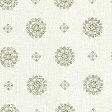 BHF 302-66825 Medaillon Tapete, Blumenmuster, Vintage, Grün