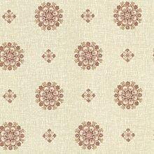 BHF 302-66827 Vintage Blumen Medaillon Tapete lachs