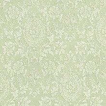 BHF 302-66884 Ornament Damast Tapete Grün Bilderstempel