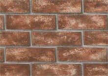 BHF 96504CERAMICA Rustikal Küche und Badezimmer Tapete–Licht Brick