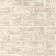 BHF 96509CERAMICA Brick Wand Küche und Badezimmer Tapete–Creme
