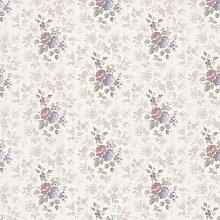 BHF 986–56069Emmeline Satin Rose Tapete–Lila