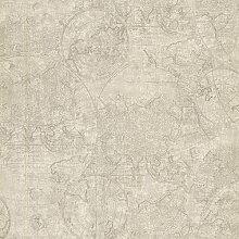 BHF Cartography Vintage 2604-21240 Tapete, Weltkarten-Motiv