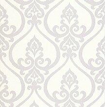 BHF dl22802Antalia Silber Nouveau Damast