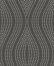 BHF dl40200Sparkle Dots Wave Tapete–Anthrazit/Silber