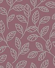 BHF DL40211Sparkle Leaf Tapete–Pflaume/Silber