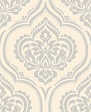 BHF dl40555 Sparkle Ornament Damast Tapete – Beige
