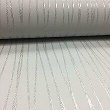 BHF dl40579Sparkle Linear Tapete–Weiches Grau