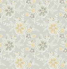 BHF fd22204Ami Chloe Neutral Floral Tapete–Honig