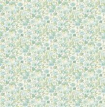 BHF fd22216Grün Floral Ami Elsie Tapete, Blaugrün